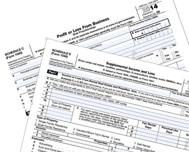 IRS Schedules C and E 2014