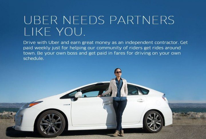 Uber sign up page