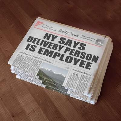 NY finds newspaper delivery person to be an employee