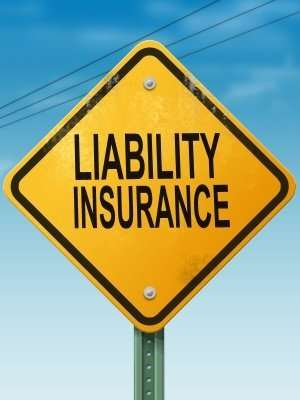 liability insurance warning sign