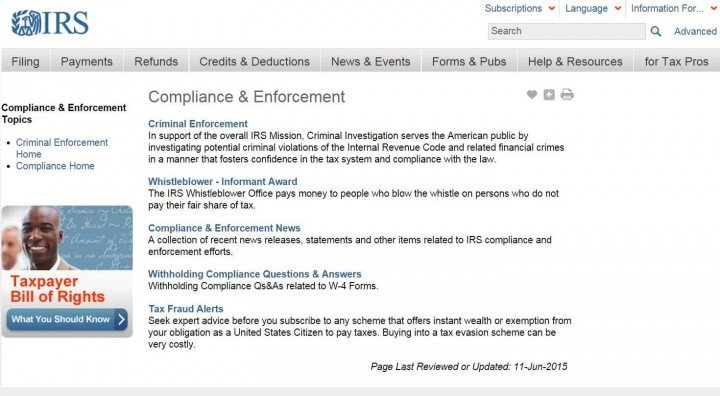 IRS Compliance and Enforcement