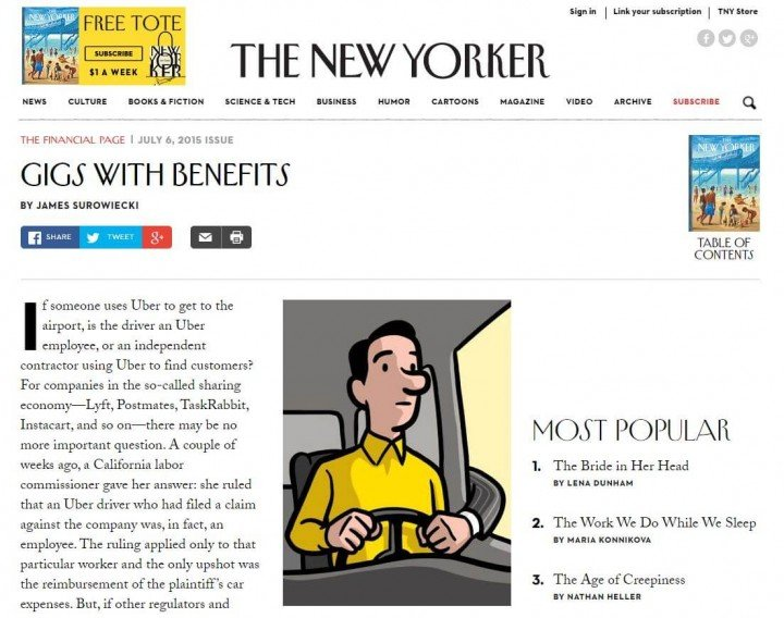 New Yorker Gigs with Benefits
