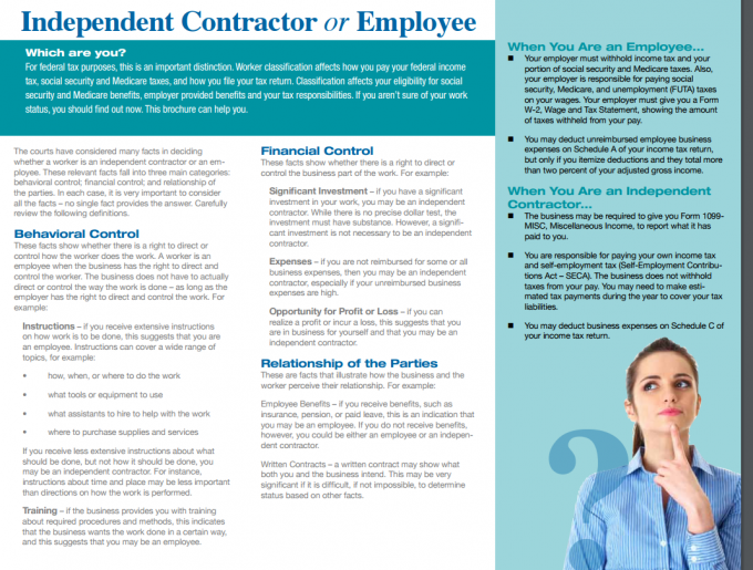 Independent Contractor Defined by the IRS