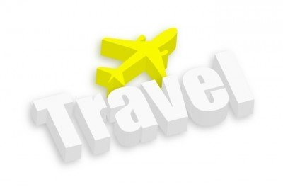 Travel with image of an airplane