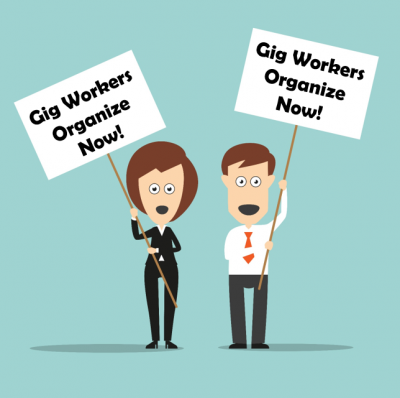 Gig workers organize now!