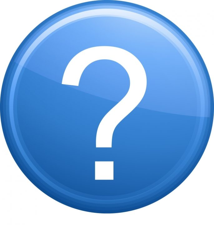 blue question mark button
