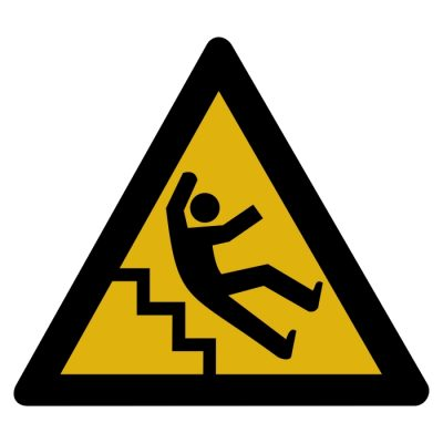 caution sign for falling