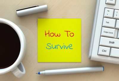 How to survive post it note