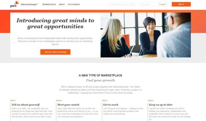 PWC Launches a Marketplace for Freelance Workers