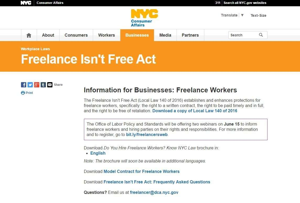 NYC Agency Publishes Rules for New Independent Contractor Law