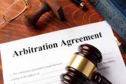 arbitration agreement with gavel