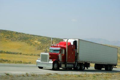18 wheeler truck going up a hill