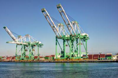 Cargo crane port of los angeles