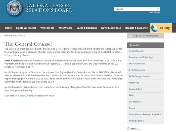 NLRB general counsel