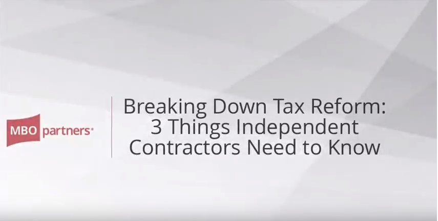 Breaking Down Tax Reform: 3 Things Independent Contractors Need to Know