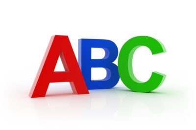 ABC letters in colors