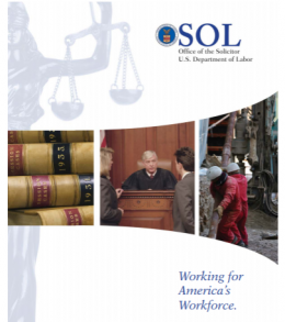solicitor of labor brochure cover page