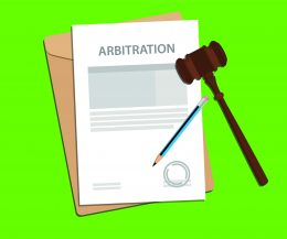 arbitration agreement with green background