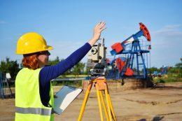 Engineer near oil well