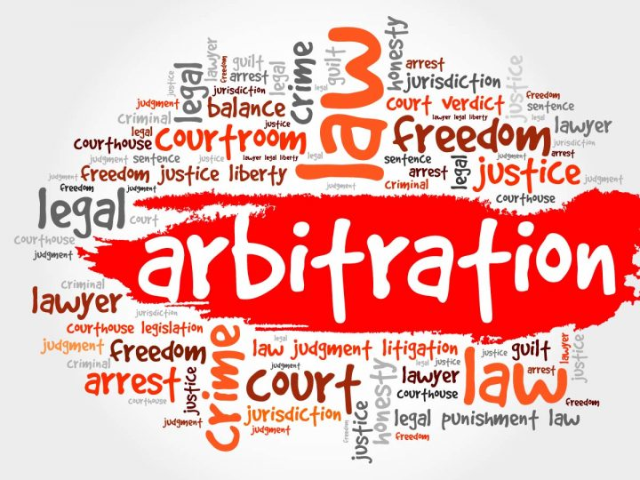 red word cloud arbitration